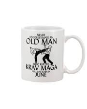 Never Underestimate Old Man Krav maga June Mug thumbnail