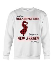 Oklahoma Girl Living In New Jersey Crewneck Sweatshirt thumbnail