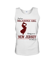 Oklahoma Girl Living In New Jersey Unisex Tank thumbnail