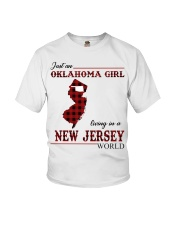 Oklahoma Girl Living In New Jersey Youth T-Shirt thumbnail