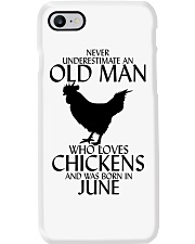 Never Underestimate Old Man Chicken June Phone Case thumbnail