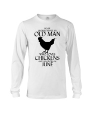 Never Underestimate Old Man Chicken June Long Sleeve Tee thumbnail
