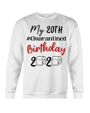 20th Birthday Quarantined 20 Year Old Crewneck Sweatshirt thumbnail