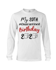 20th Birthday Quarantined 20 Year Old Long Sleeve Tee thumbnail