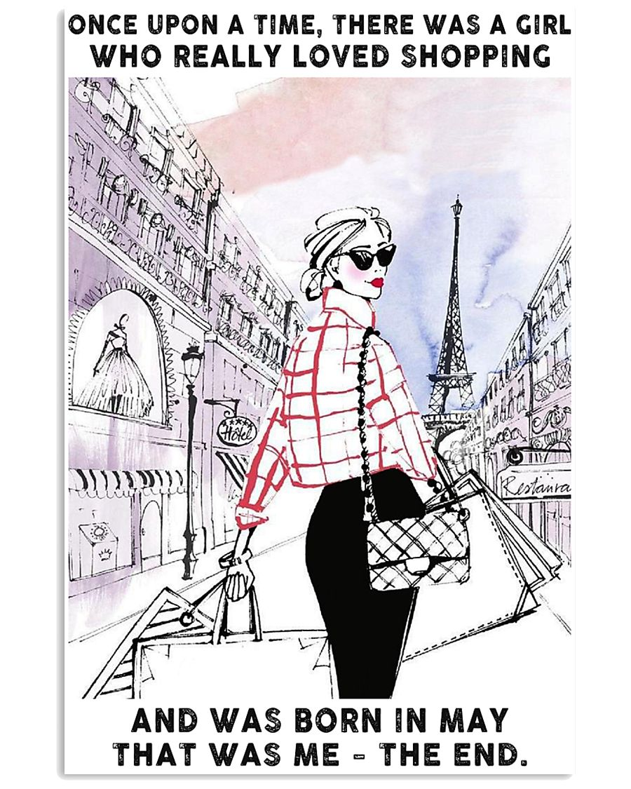 May Girl-Shopping 24x36 Poster