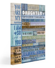 To My Daughter From Mom 20x30 Gallery Wrapped Canvas Prints front