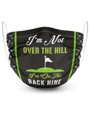 Golf l I'm On The Back Nine 2 Layer Face Mask - Single front