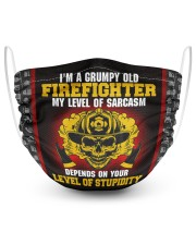 I'm A Grumpy old Firefighter 2 Layer Face Mask - Single front