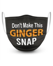 Don't Make This Ginger Snap 3 Layer Face Mask - Single front