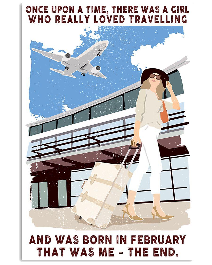 February Girl Loves Travelling 24x36 Poster