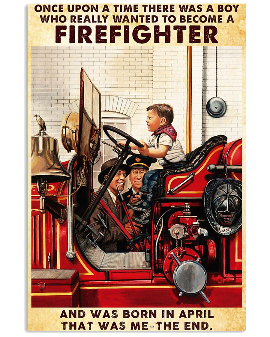 April Firefighter 24x36 Poster