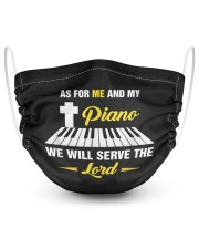Pianist gift as for me and my piano we will  2 Layer Face Mask - Single front