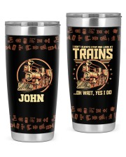 Train I don't always Personalized Christmas Gift 20oz Tumbler front