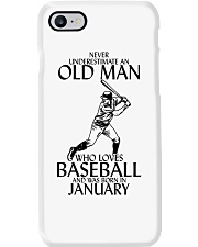 Never Underestimate Old Man Baseball January Phone Case thumbnail