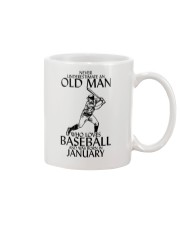 Never Underestimate Old Man Baseball January Mug thumbnail