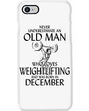 Never Underestimate Old Man Weightlifting December Phone Case thumbnail