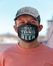 Mens just a man who loves tennis beer funny  Cloth face mask aos-face-mask-lifestyle-06