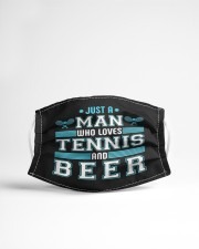 Mens just a man who loves tennis beer funny  Cloth face mask aos-face-mask-lifestyle-22