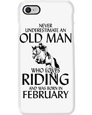 An Old Man Who Loves Riding And Was Born February Phone Case thumbnail