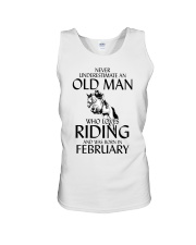 An Old Man Who Loves Riding And Was Born February Unisex Tank thumbnail