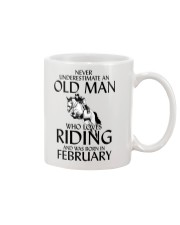 An Old Man Who Loves Riding And Was Born February Mug thumbnail