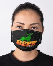 Deer hunting hunting season bug Cloth face mask aos-face-mask-lifestyle-01