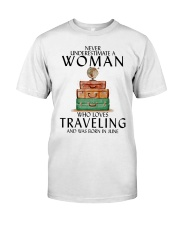 Woman Traveling June Classic T-Shirt tile
