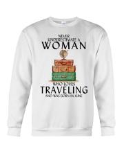 Woman Traveling June Crewneck Sweatshirt thumbnail
