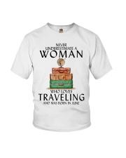 Woman Traveling June Youth T-Shirt thumbnail