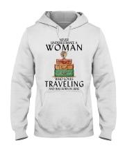 Woman Traveling June Hooded Sweatshirt thumbnail