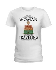 Woman Traveling June Ladies T-Shirt thumbnail