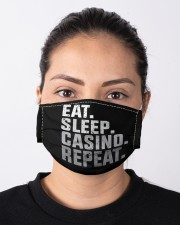 Eat Sleep Casino Repeat Cloth face mask aos-face-mask-lifestyle-01