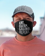 Eat Sleep Casino Repeat Cloth face mask aos-face-mask-lifestyle-06