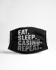 Eat Sleep Casino Repeat Cloth face mask aos-face-mask-lifestyle-22