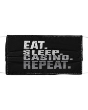 Eat Sleep Casino Repeat Cloth face mask front