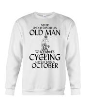 Never Underestimate Old Man Cycling October Crewneck Sweatshirt thumbnail