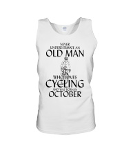 Never Underestimate Old Man Cycling October Unisex Tank thumbnail
