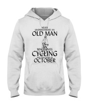 Never Underestimate Old Man Cycling October Hooded Sweatshirt thumbnail