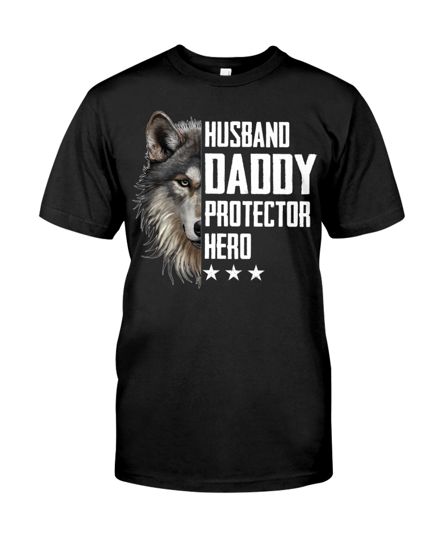 Wolf Husband Daddy Protector Hero Classic T-Shirt