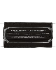 Face Mask Legendary Cloth face mask front