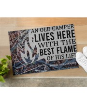 """Camping An Old Camper Lives Here Personalized Doormat 22.5"""" x 15""""  aos-doormat-22-5x15-lifestyle-front-11"""