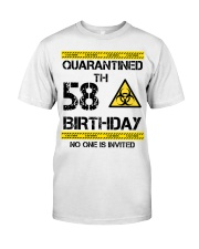 58th Birthday 58 Years Old Classic T-Shirt front