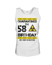 58th Birthday 58 Years Old Unisex Tank tile