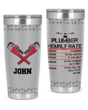 Hourly Rate Plumber- Personalized Christmas Gift 20oz Tumbler front