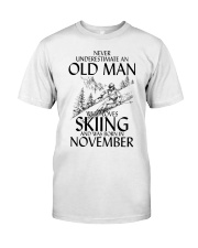 An Old Man Loves Skiing November Classic T-Shirt front