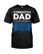 Gymnastics Dad Scan For Payment Classic T-Shirt front