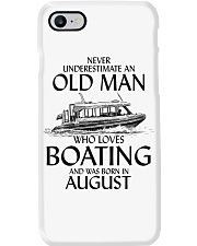 Never Underestimate Old Man Boating August Phone Case thumbnail