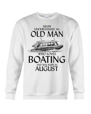 Never Underestimate Old Man Boating August Crewneck Sweatshirt thumbnail