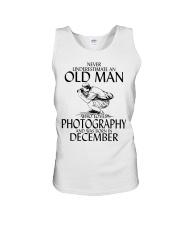 Never Underestimate Old Man Photography December Unisex Tank thumbnail