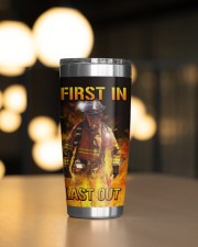 Firefighter First In Last Out Personalized 20oz Tumbler aos-20oz-tumbler-lifestyle-front-04